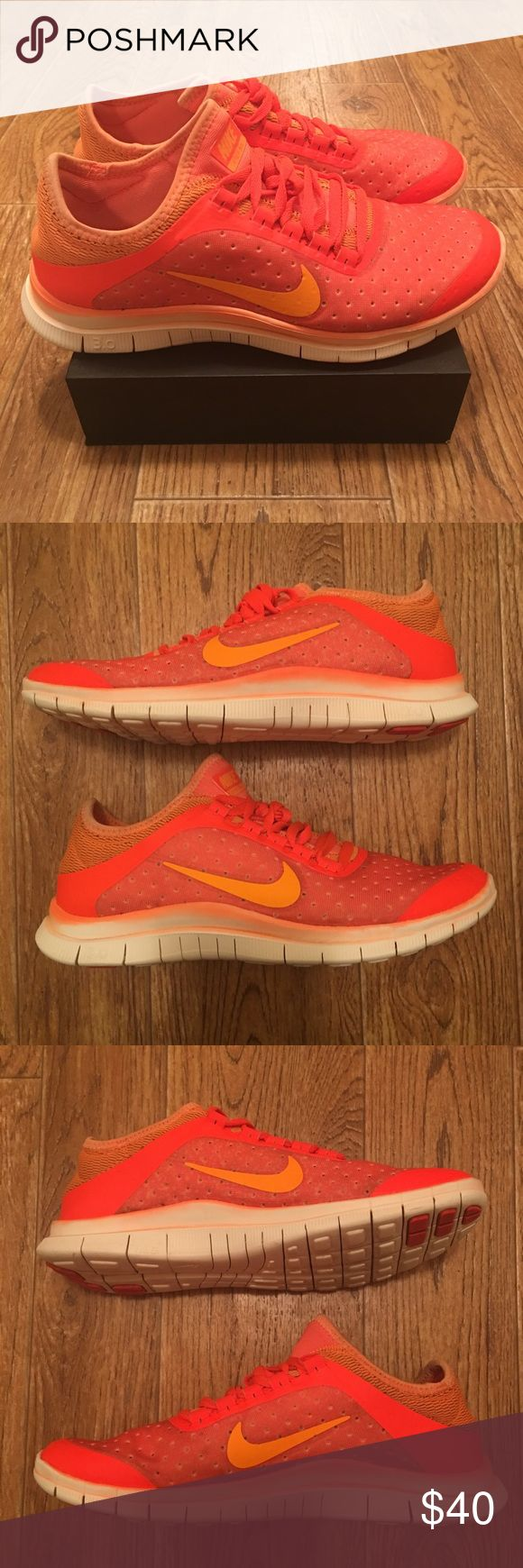 [Nike] Free 3.0 V5 Women's Running Shoes (Used) Used Nike Free 3.0 V5 womens running shoes. Good condition overall, material a little dingy from wear (see photos). Women's size 8    **Offers Accepted** Nike Shoes Athletic Shoes