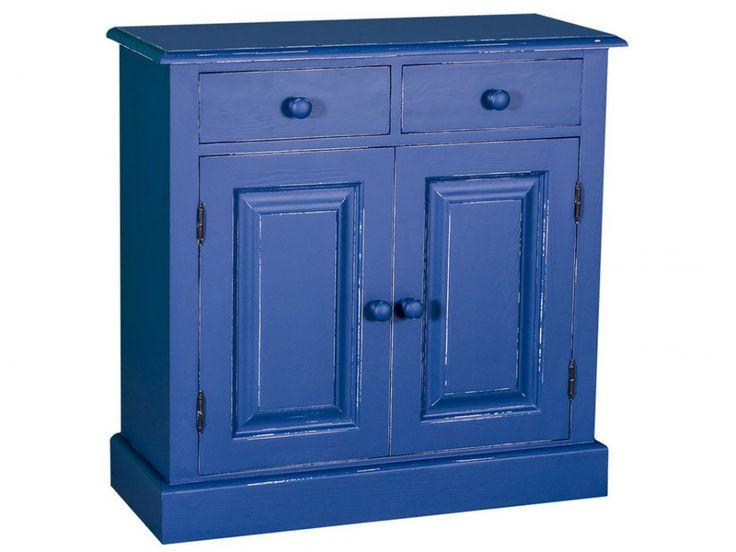 Niebieska komoda z drewna - kolekcja Charlotte
