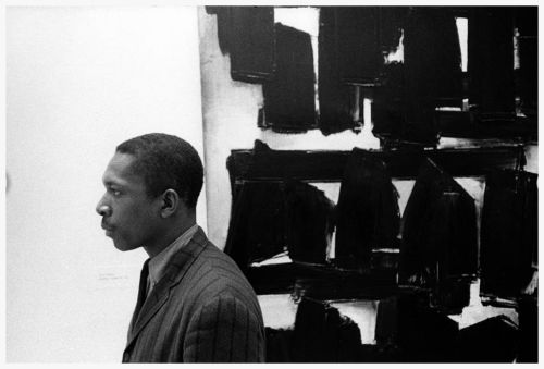 John Coltrane at the Guggenheim Museum in New York City 1960 (photo by William Claxton)