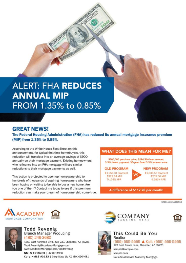 FHA Reduces Annual MIP (Mortgage Insurance Premiums) With ...