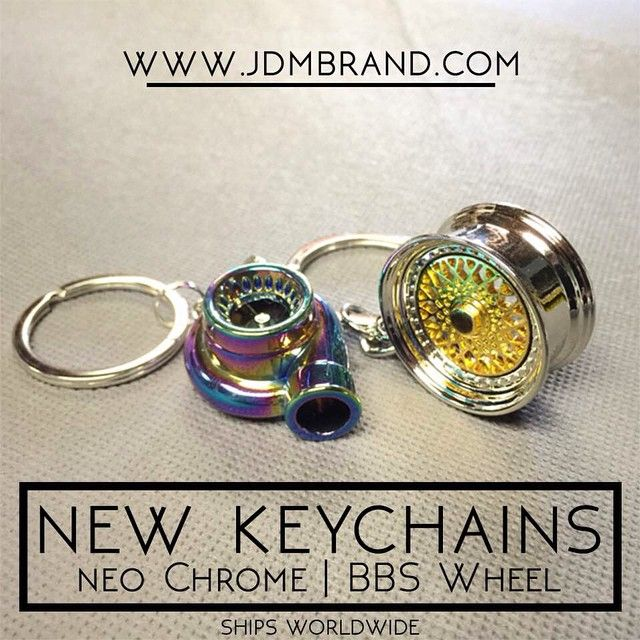 """""""You have to get these! New Neo Chrome Turbo Keychain and BBS Wheel keychain from @JDMbrand ..."""