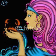 Illustrazione: Segni zodiacali - Cancro