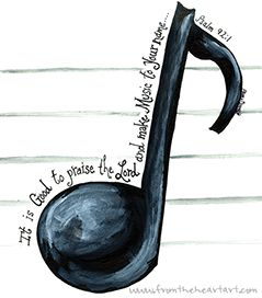 Music Note Print (Psalm 92:1)
