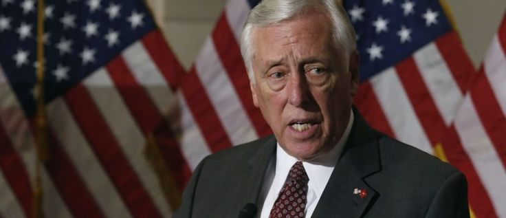 Hot Mic. 2-26-15 A debate over a bill to fund the Department of Homeland Security devolved into name-calling Thursday when House Minority Whip Steny Hoyer was caught on an open microphone calling House Majority Leader