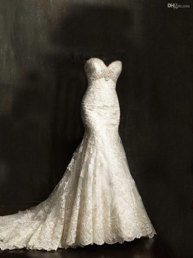 25  best ideas about Lace mermaid wedding dress on Pinterest ...