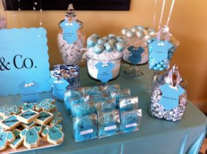 Blue Candy Bar For Baby Shower