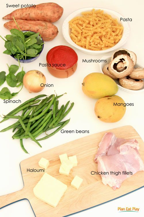 Save time and make 3 easy meals from a bag of groceries. http://www.planeatplay.com/meals-from-a-bag/ #planeatplay #fromabag #chicken