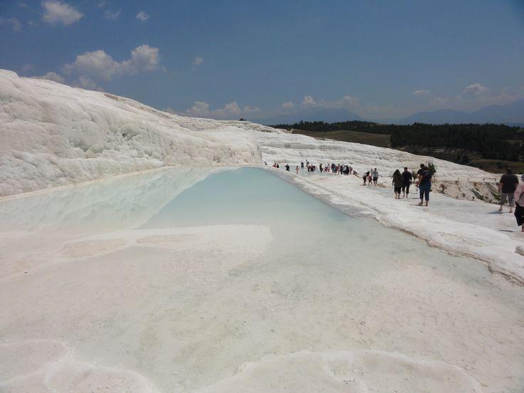 *Pamukkale, Turkey* Amazing natural limestone pools. Travel tips and photos. If you enjoy, hit +1 please http://viajandodenovo.blogspot.com.br/2015/08/diario-de-viagem-pamukkale-turquia.html  #pamukkale #turkey #asia #travel #tourism #trip #vacation #traveltips #turquia #viagem #turismo #viajar #ferias #amazing #cool