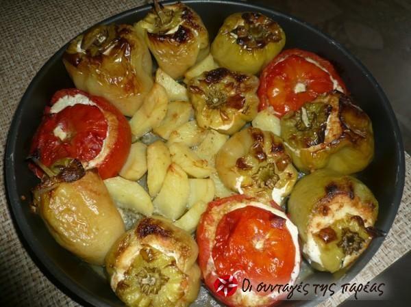Ντομάτες γεμιστές με πληγούρι #sintagespareas