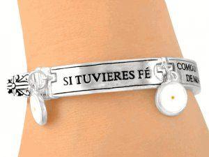 Si Tuvieres Fé Como Un Grano De Mostaza, Mateo 17:20 Bracelet - Spanish Bracelet