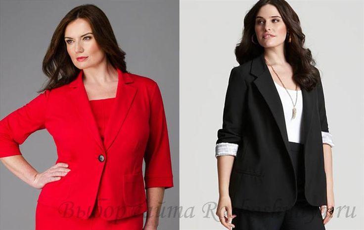 Пиджаки женские фото для полных