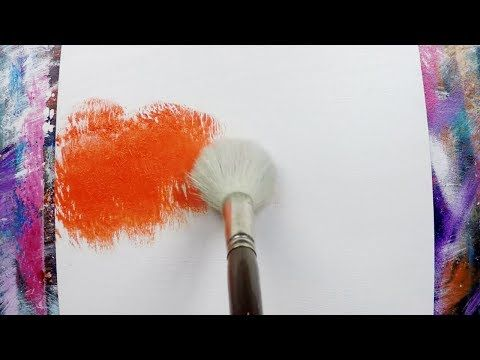 Simple landscape / Easy / 145 / Relax / For beginners / Abstract painting technique / Satisfaction – YouTube