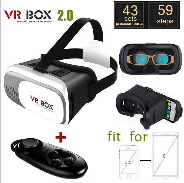 New technology vr box 2nd Generation Distance Adjustable VR Box 3D Glasses Headset VR Glasses for Mobile of 3.5-6 inch