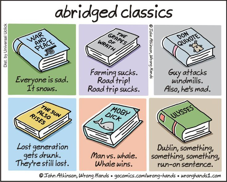 Extremely Abridged Versions of Classic Books