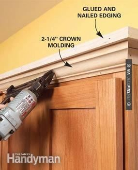 89 best crown molding images on pinterest crown molding for Kitchen cabinets crown molding installation instructions