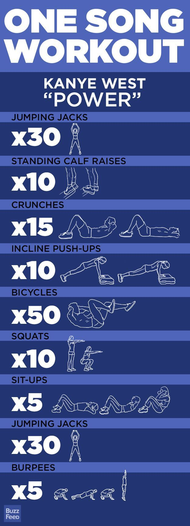 """Is Kanye's """"Power"""" on your workout playlist? Give this WOD a try - you never know, it might make you push yourself harder! (scheduled via http://www.tailwindapp.com?utm_source=pinterest&utm_medium=twpin&utm_content=post6438402&utm_campaign=scheduler_attribution)"""