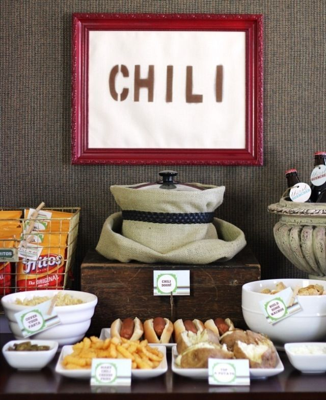Chili Party Decorations | Chili Bar | Party Ideas