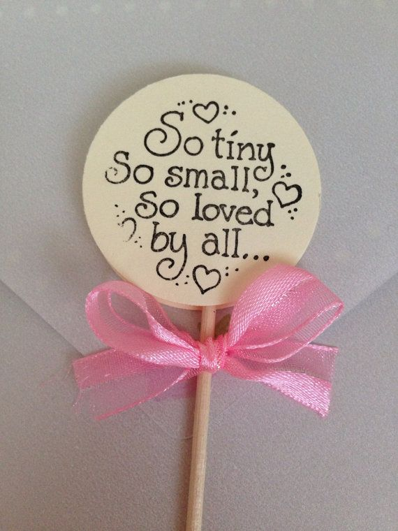 Baby shower cupcake toppers by MilitaryMoments on Etsy