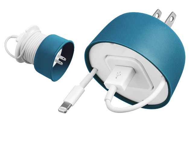 PowerCurl Mini for iPhone USB cable and power adapter - Power cords getting jumbled in your bag? You need a PowerCurl Mini in your life. It's perfect for Apple's 5W USB Power Adapter. GetdatGadget.com