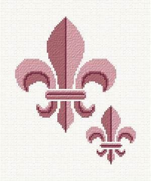 Fleur de Lis - cross stitch pattern designed by Marv Schier. Category: Other.