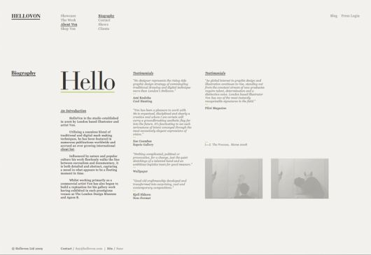 minimalist layout