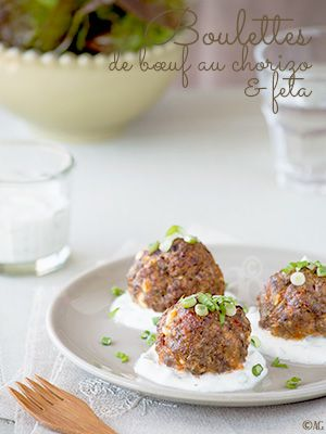 Boulettes de bœuf au chorizo & feta - Alter Gusto