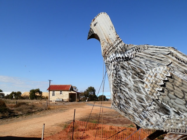 One of #Australia's most bizarre - and remote - #BigThings! The Big Malleefowl, Patchewollock, Victoria