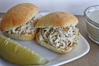 Alabama White sauce recipes & pulled chicken sandwich on sister Shubert rolls Published in Lake Wedowee Life: Sandwich Recipes