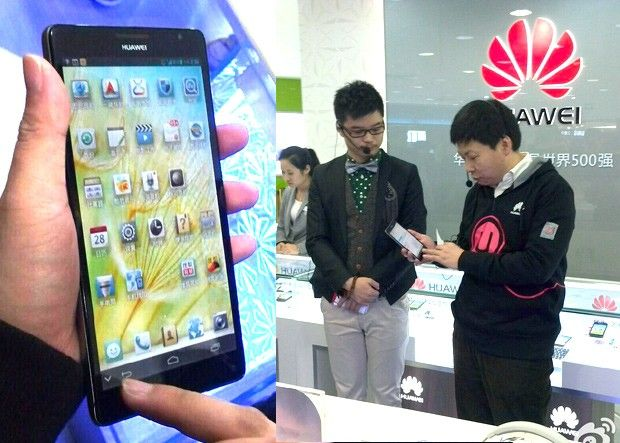 Huawei's 61 inch 1080p Ascend Mate smartphone / tablet flaunted by exec, leaves little surprise for CES 2013