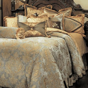 Elizabeth Luxury Bedding by Michael Amini Bedding Collection from AICO - Luxury Bedding Sale with all the pillows $939 queen free shipping