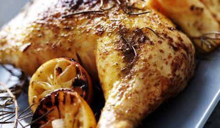 Pečené kurča na citróne s rozmarínom