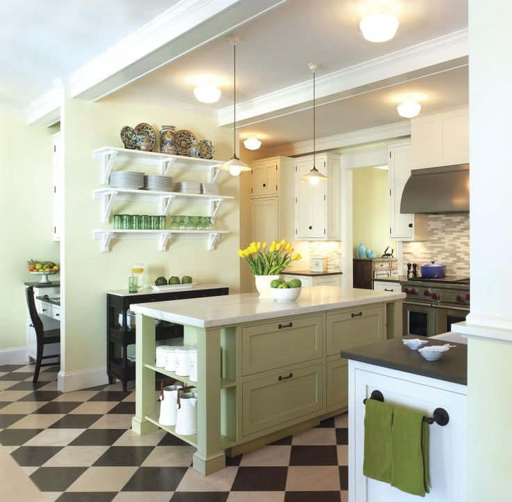 Pale Green, Spring Green, Yellows With Whites. Lakeside Family Cottage    Traditional   Kitchen   Dc Metro   Barnes Vanze Architects, Inc