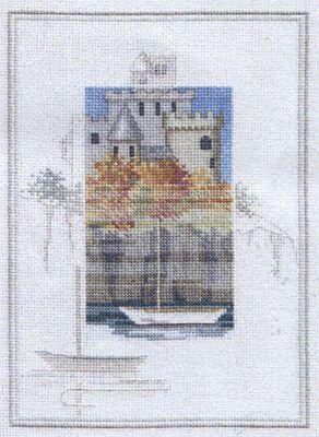 Castle Crag - Misty Mornings Cross Stitch Kit from Derwentwater Designs