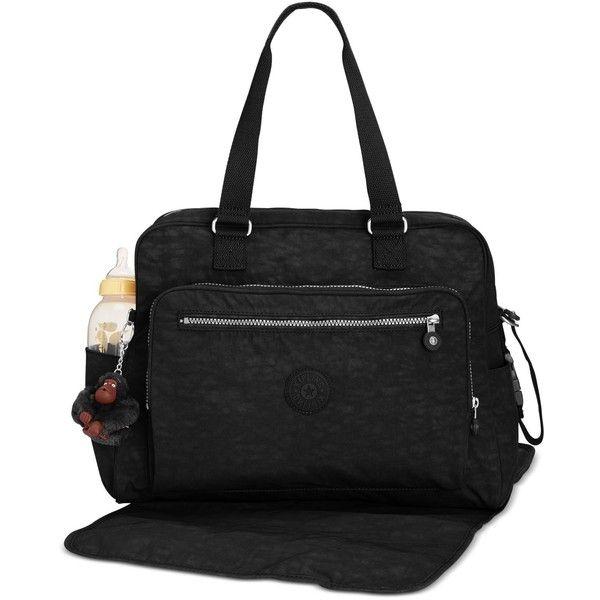Kipling Alanna Baby Bag (505 BRL) ❤ liked on Polyvore featuring black