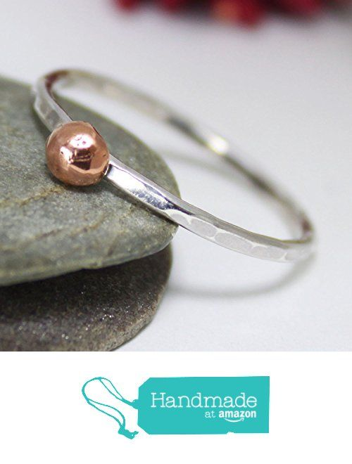 Little Copper Ball Stacking Ring, Statement Ring, Tiny Copper Ball Silver Bamd Ring, Silver Stacking Ring, Simple Ring, Hammered Ring from rosajuri https://www.amazon.com/dp/B071VC8M35/ref=hnd_sw_r_pi_dp_k4eczb680A542 #handmadeatamazon