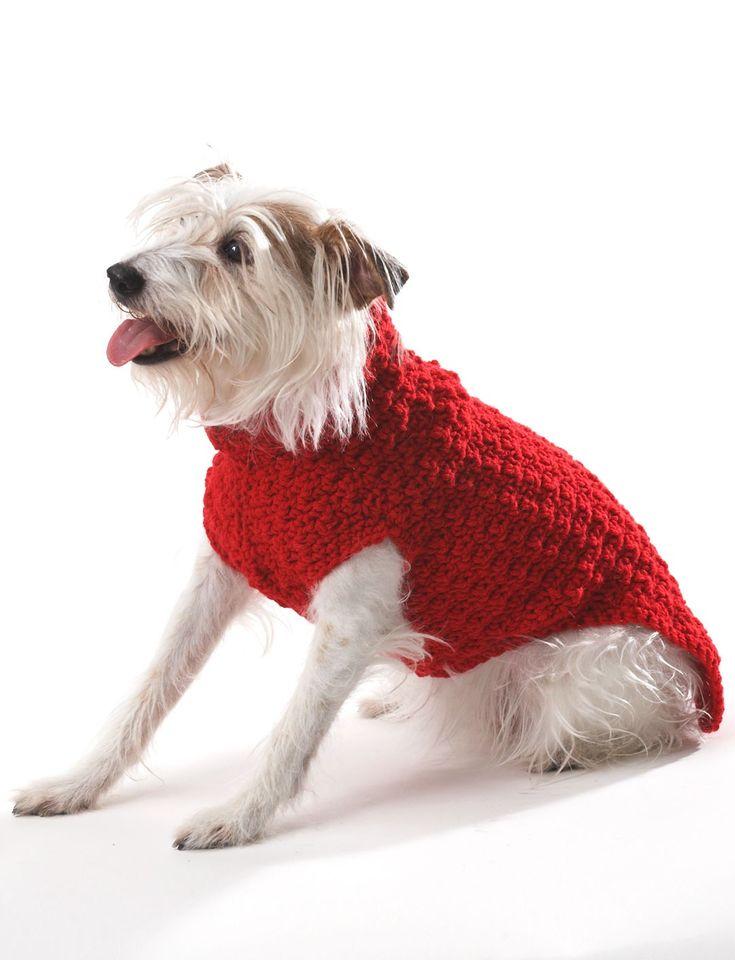 Famoso Free Crochet Pattern For Dog Sweater Foto - Manta de Tejer ...