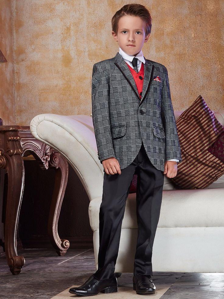 Костюм-тройка (с жилетом)   белая рубашка с галстуком для мальчика от 2 до 14 лет