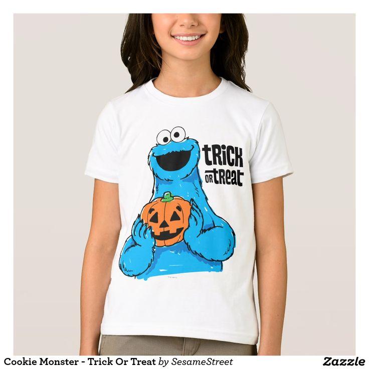 Cookie Monster - Trick Or Treat. Producto disponible en tienda Zazzle. Vestuario, moda. Product available in Zazzle store. Fashion wardrobe. Regalos, Gifts. #camiseta #tshirt