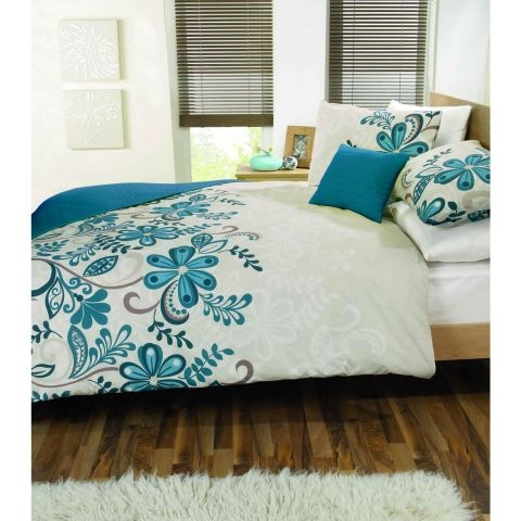 Dreams n Drapes Rosso Bedding Set - Teal A