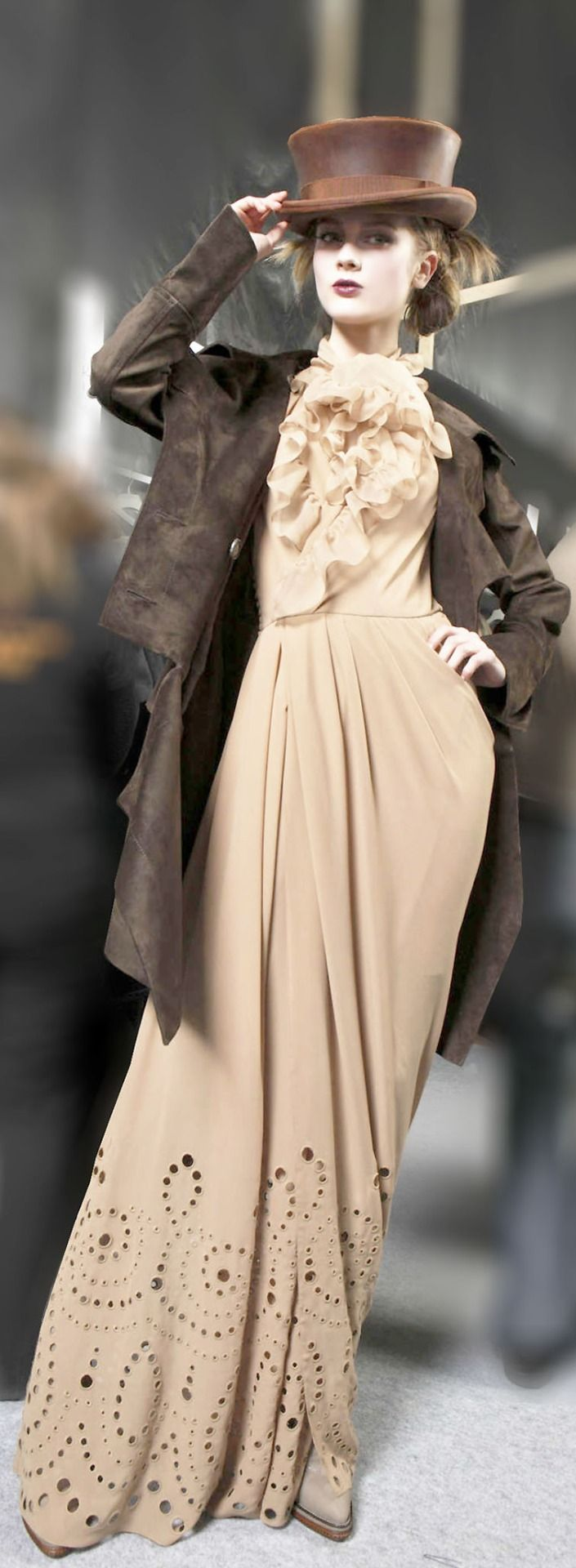 Christian Dior. This style looks a little steampunk-ish, cool.