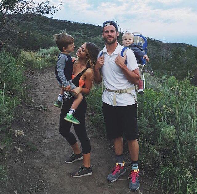 me, husband, and 2/3 of kids