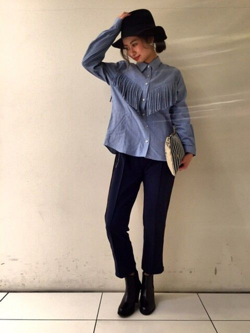 YUKI  MOMOZAWAさんの「NOMA t.d/ノーマティーディー Fringe Shirt(NOMA t.d.)」を使ったコーディネート