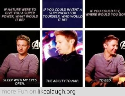 """Another pinner: """"I am basically the female equivalent of Jeremy Renner."""" <<Haha! I agree to all of the above"""