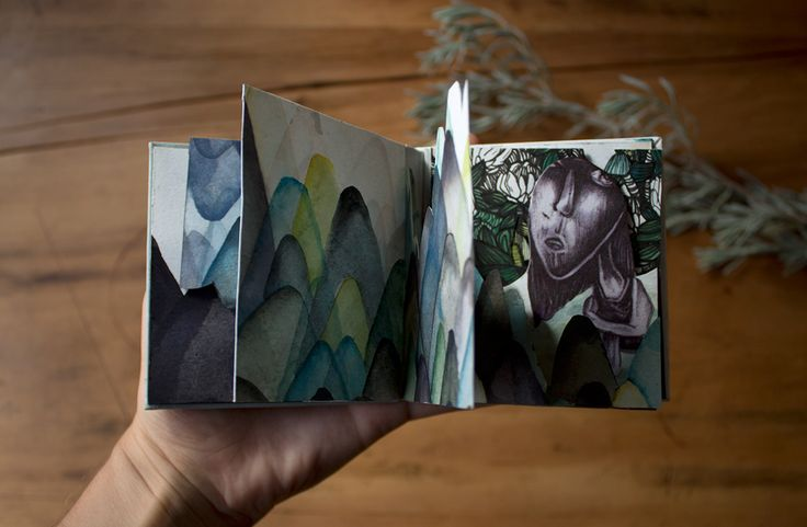 A tiny handboud and hand illustrated book by Pencilheart Art on Behance.