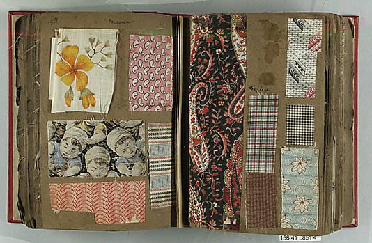Textile Sample Book assembled by Louis Long.  Culture British French and Italian.  1878-1900