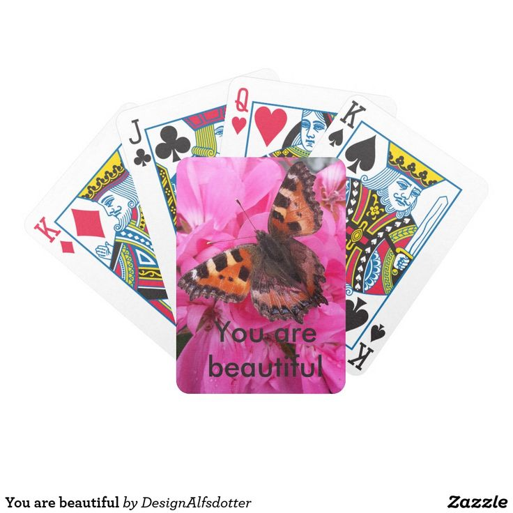 You are beautiful spel kort
