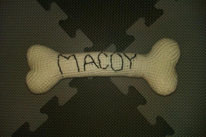 Hæklet kødben til Macoy