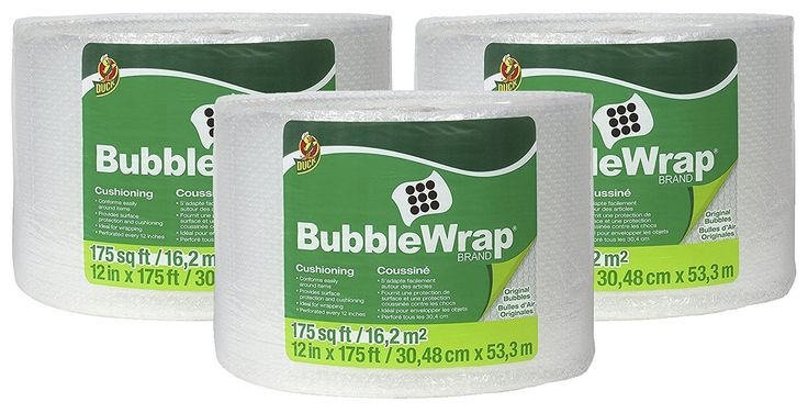 Duck Brand Bubble Wrap Original Protective Packaging fMtnt 3Pack 12 in. x 175 ft.