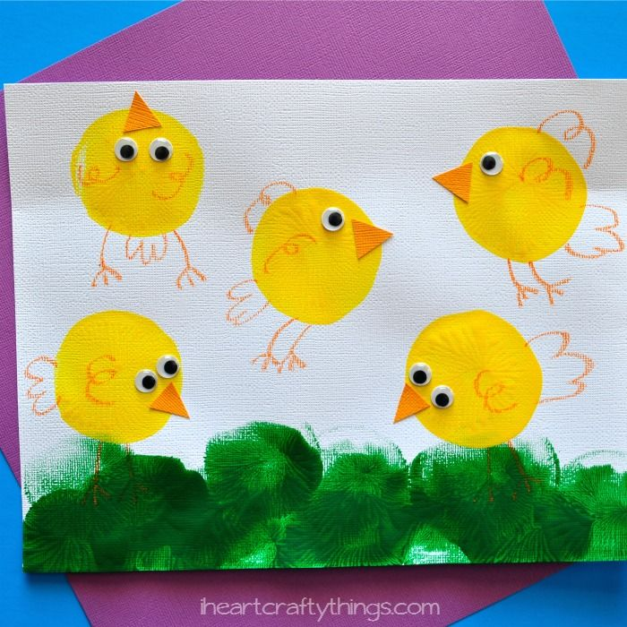 I HEART CRAFTY THINGS: Balloon Printed Chicks Kids Craft