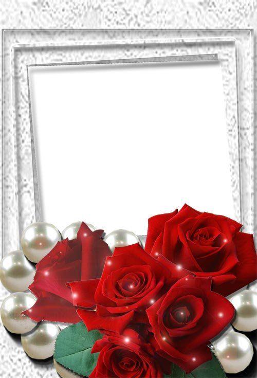 Gratis bryllupsbaggrunde Rammer Romantiske blomster-6855